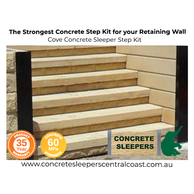 Cove Concrete Sleeper Step Kit Australia S Strongest Concrete Sleepers In Central Coast Newcastle Sydney Nsw